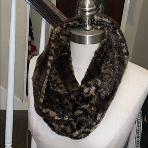 Leopard print infinity scarf snood
